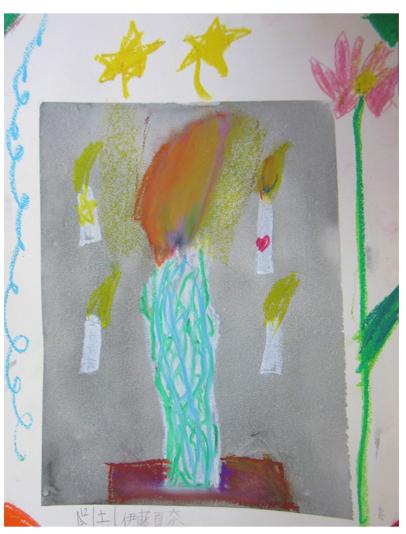 火を描く 小学生クラス(上高野)_f0211514_22210458.jpg