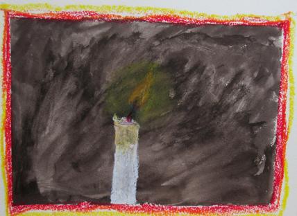 火を描く 小学生クラス(上高野)_f0211514_22264939.jpg