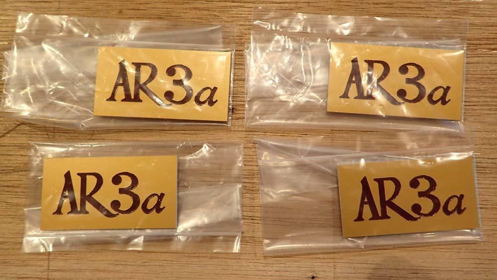 AR3a スピーカーシステムのエンブレム制作。_b0262449_16523190.jpg