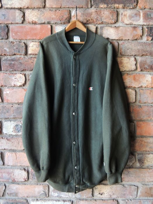 90S CHAMPION REVERSE WEAVE SNAP CARDIGAN GREEN--RECOMMEND--_d0334976_14012032.jpg