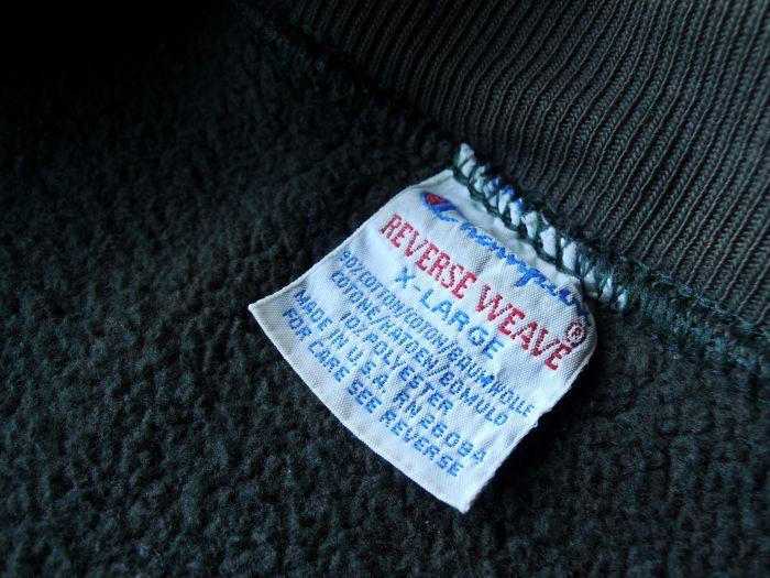 90S CHAMPION REVERSE WEAVE SNAP CARDIGAN GREEN--RECOMMEND--_d0334976_14091965.jpg
