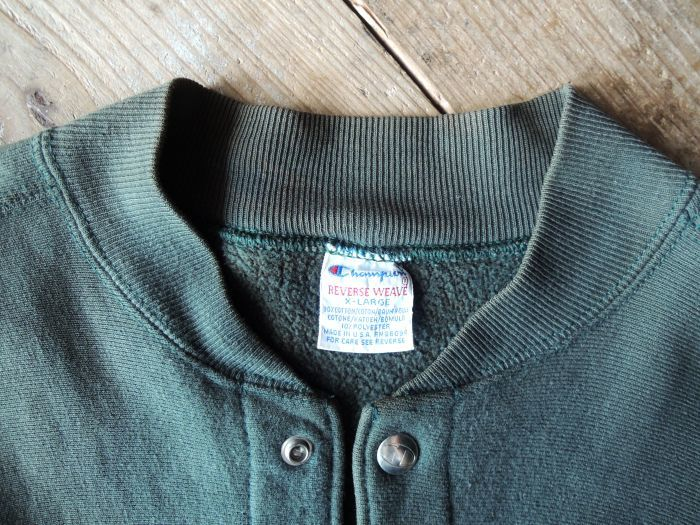 90S CHAMPION REVERSE WEAVE SNAP CARDIGAN GREEN--RECOMMEND--_d0334976_14170887.jpg