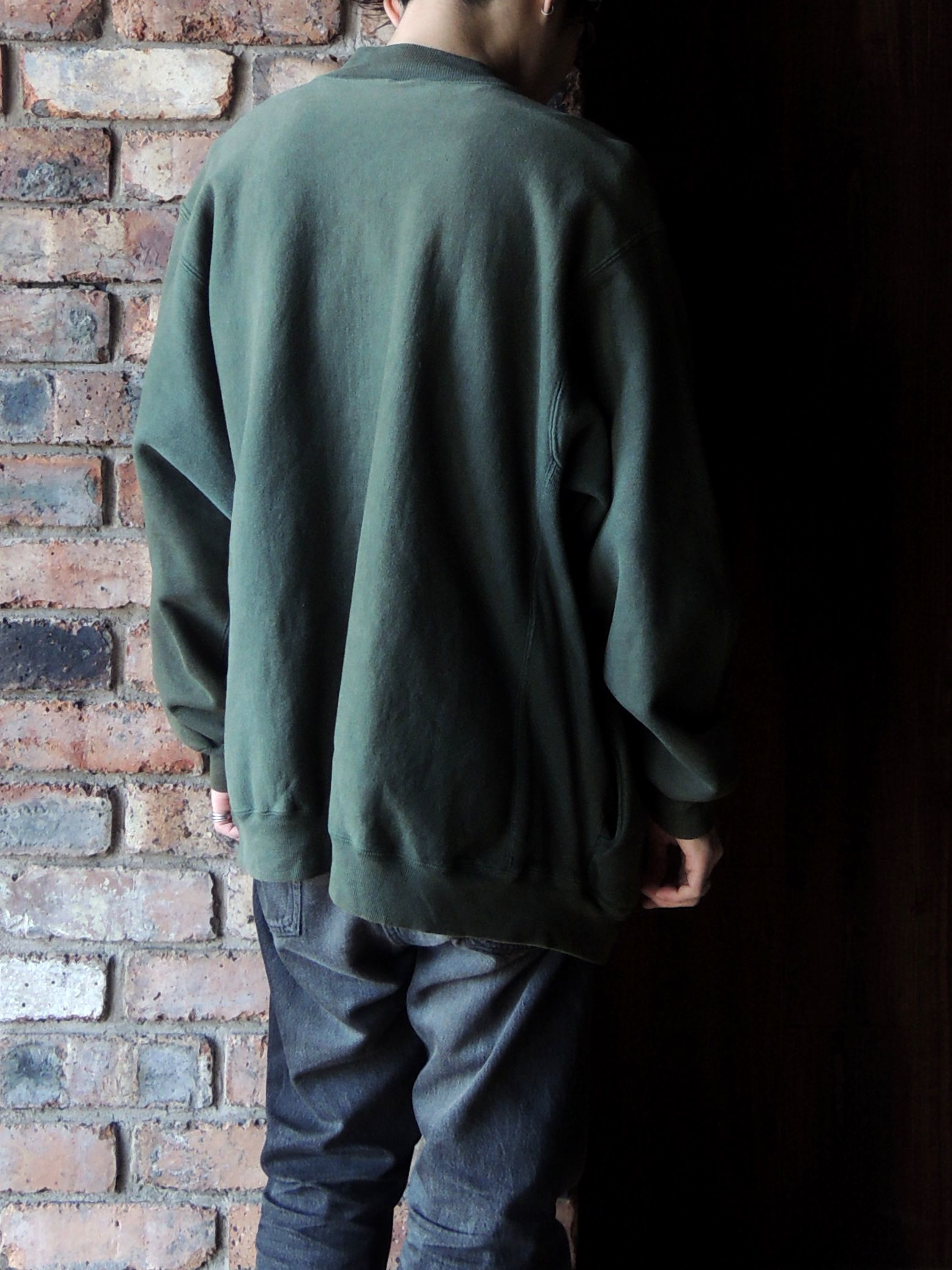 90S CHAMPION REVERSE WEAVE SNAP CARDIGAN GREEN--RECOMMEND--_d0334976_14204053.jpg