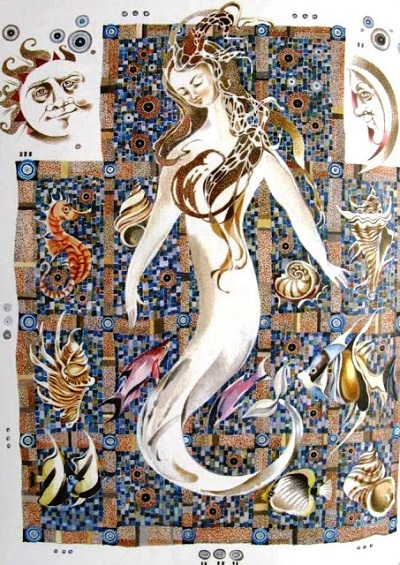 А. Андреева画:ロシアのアンデルセン本より「人魚姫」_c0084183_11084855.jpg