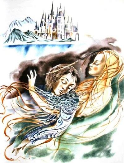 А. Андреева画:ロシアのアンデルセン本より「人魚姫」_c0084183_11085301.jpg