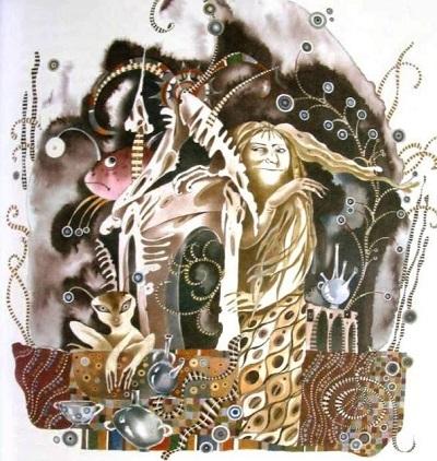 А. Андреева画:ロシアのアンデルセン本より「人魚姫」_c0084183_11085731.jpg