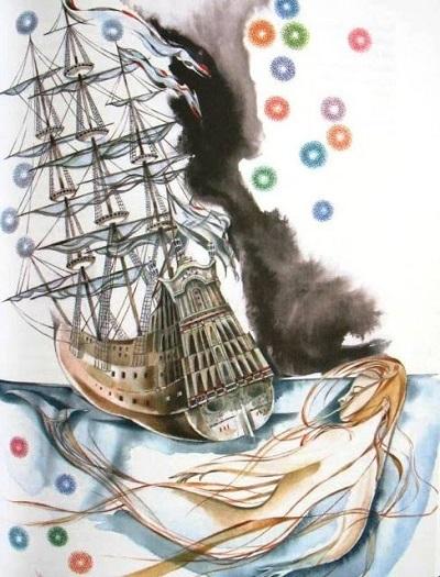 А. Андреева画:ロシアのアンデルセン本より「人魚姫」_c0084183_11090450.jpg