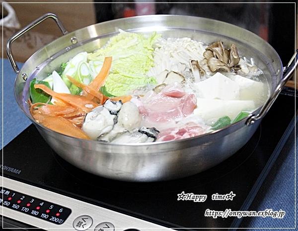 寒いのでやっぱり鍋♪_f0348032_19324102.jpg