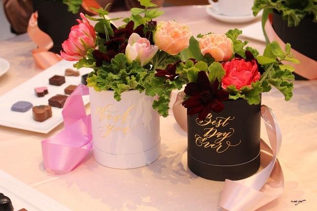 チョコレートが香るお花のWS『日比谷花壇フラワーバレンタイン』に感動♪_f0023333_21330378.jpg