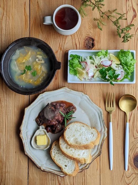 牛肉と金時豆朝ごはん_b0277136_08383612.jpeg