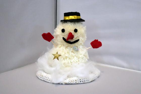 ポンポン人形 ~ 雪だるま ~_e0222340_15343013.jpg
