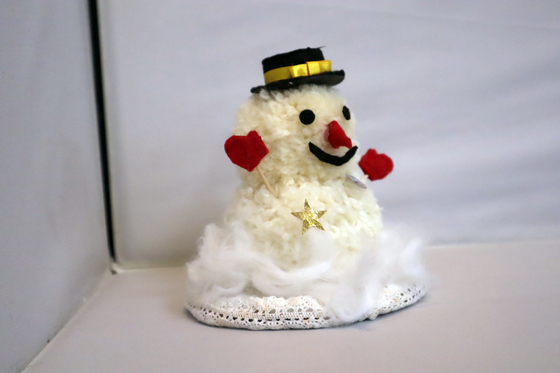 ポンポン人形 ~ 雪だるま ~_e0222340_15344037.jpg