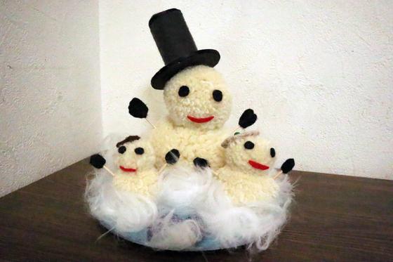 ポンポン人形 ~ 雪だるま ~_e0222340_1535010.jpg