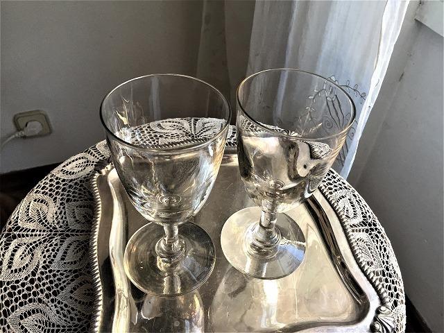 吹きガラスワイングラス111 2個セット_f0112550_03010043.jpg