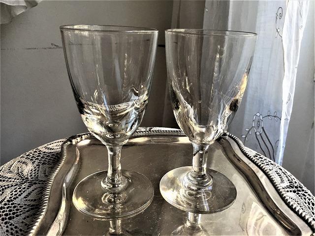 吹きガラスワイングラス111 2個セット_f0112550_03010053.jpg