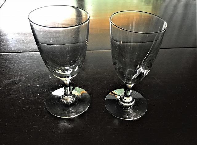 吹きガラスワイングラス111 2個セット_f0112550_03010059.jpg