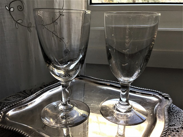 吹きガラスワイングラス111 2個セット_f0112550_03010127.jpg