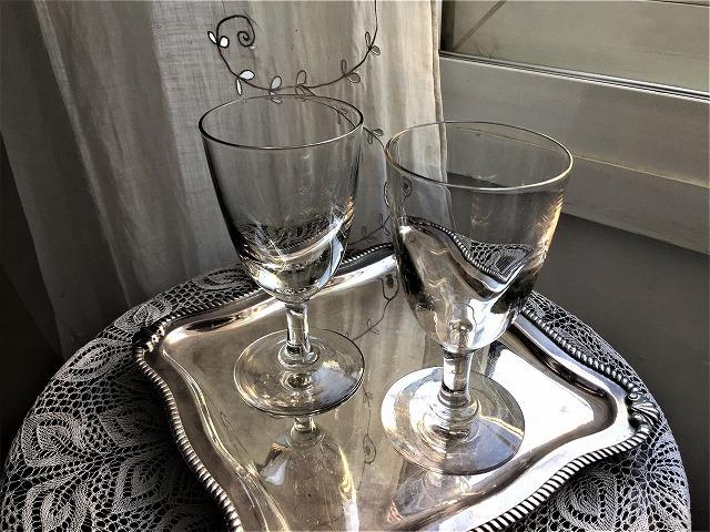 吹きガラスワイングラス111 2個セット_f0112550_03010168.jpg