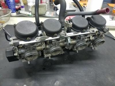 CB400SF VTECⅢ 車検整備①_e0114857_10104381.jpg