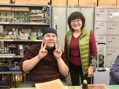 岡田明子さんのシェリダンスタイルカービング講習会(最終話)_a0228364_22505237.jpg