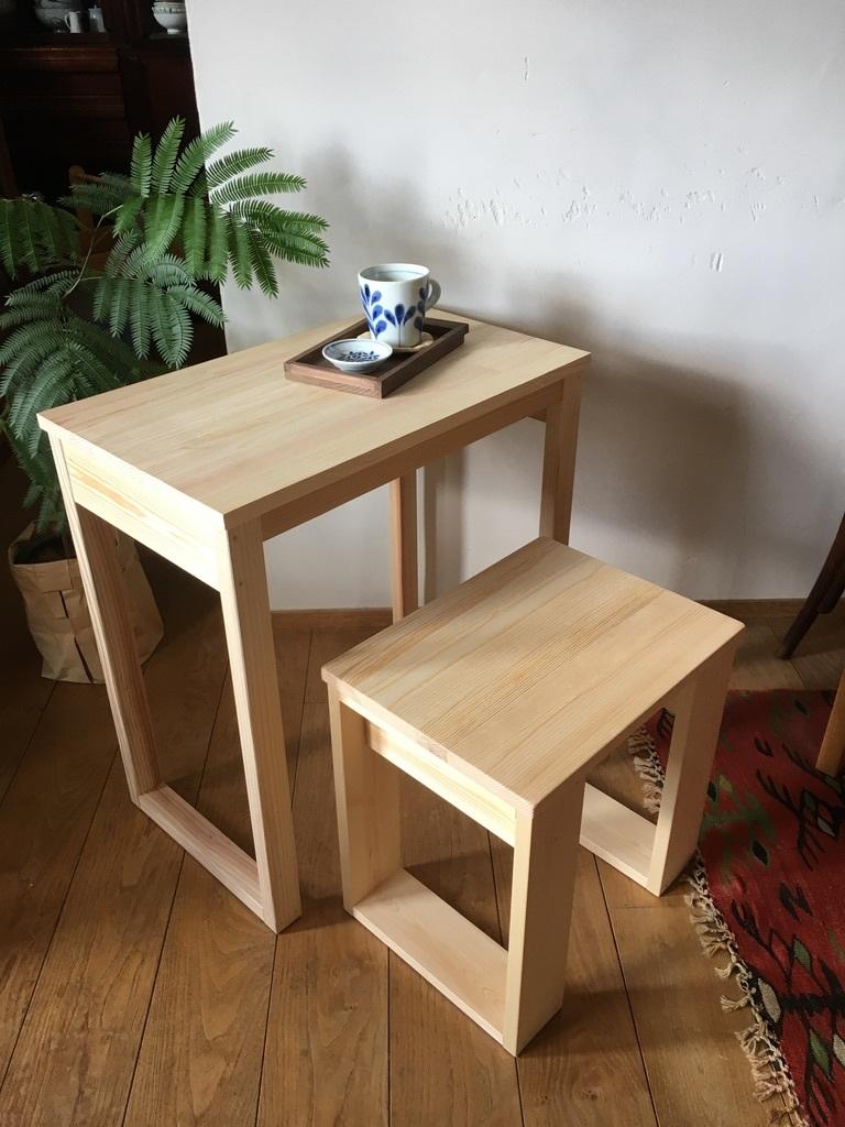 今年最初のオーダー品 〜パソコン用のテーブルとスツール〜_c0334574_19043364.jpeg