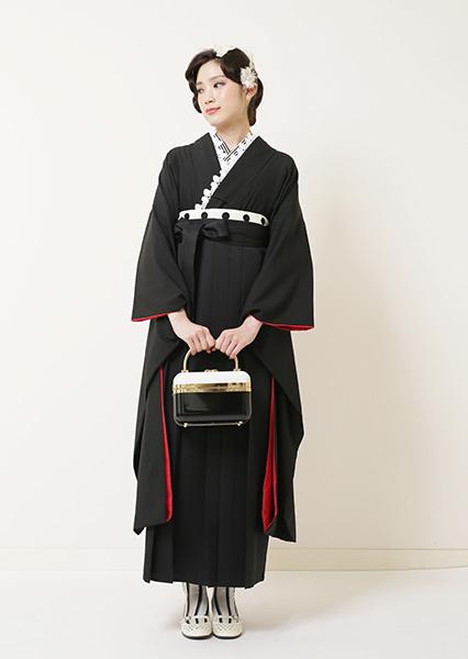 かっこいい全身黒のスタイリッシュ袴コーデイネート_b0098077_17284878.jpg