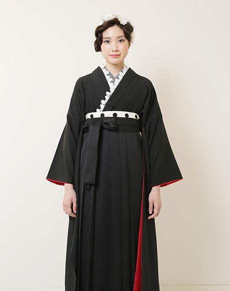 かっこいい全身黒のスタイリッシュ袴コーデイネート_b0098077_17290102.jpg