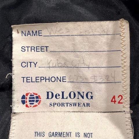"1983 \"" Delong \"" MELTON×LEATHER VINTAGE - Lettered & Chain stitch - VARSITY JACKET ._d0172088_21081163.jpg"