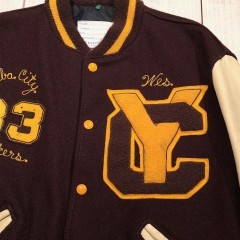 "1983 \"" Delong \"" MELTON×LEATHER VINTAGE - Lettered & Chain stitch - VARSITY JACKET ._d0172088_21084331.jpg"