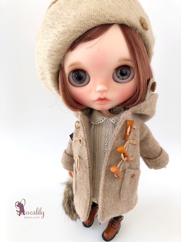 * lucalily * dolls clothes * Beige duffel coat set *_d0217189_21220122.jpg