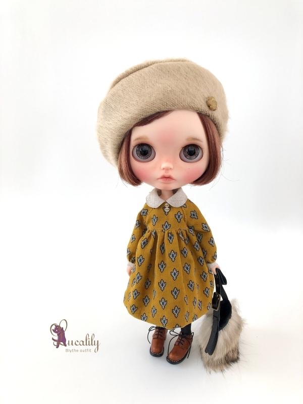 * lucalily * dolls clothes * Beige duffel coat set *_d0217189_21220669.jpg