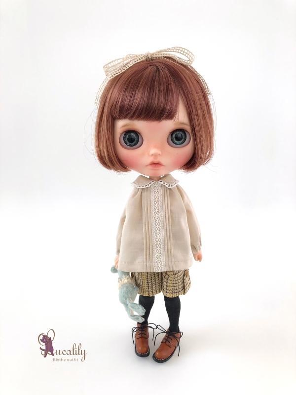 * lucalily * dolls clothes * Beige duffel coat set *_d0217189_21221741.jpg