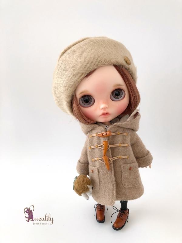 * lucalily * dolls clothes * Beige duffel coat set *_d0217189_21222059.jpg