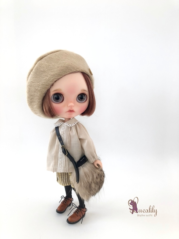 * lucalily * dolls clothes * Beige duffel coat set *_d0217189_21222524.jpg