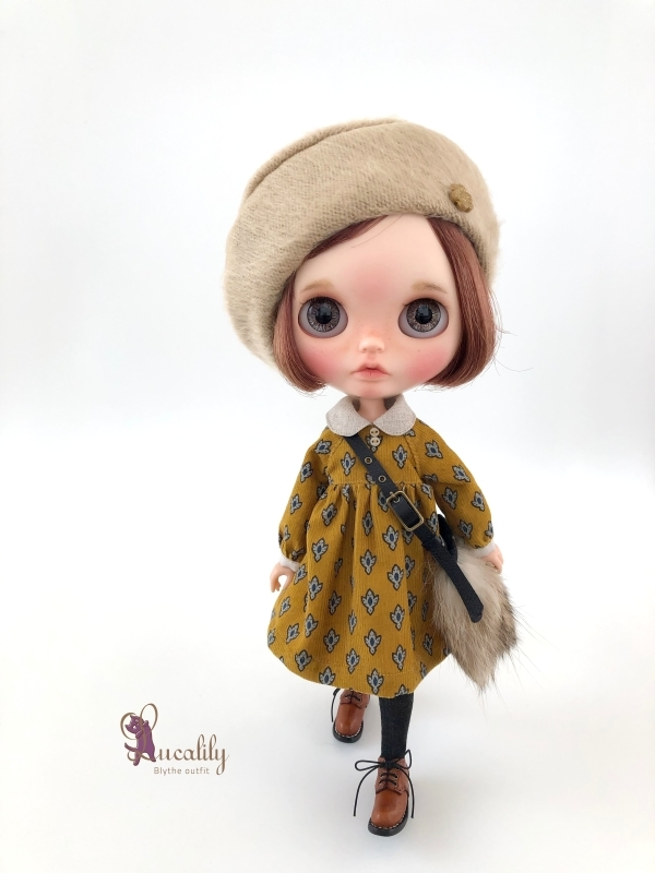 * lucalily * dolls clothes * Beige duffel coat set *_d0217189_21223110.jpg