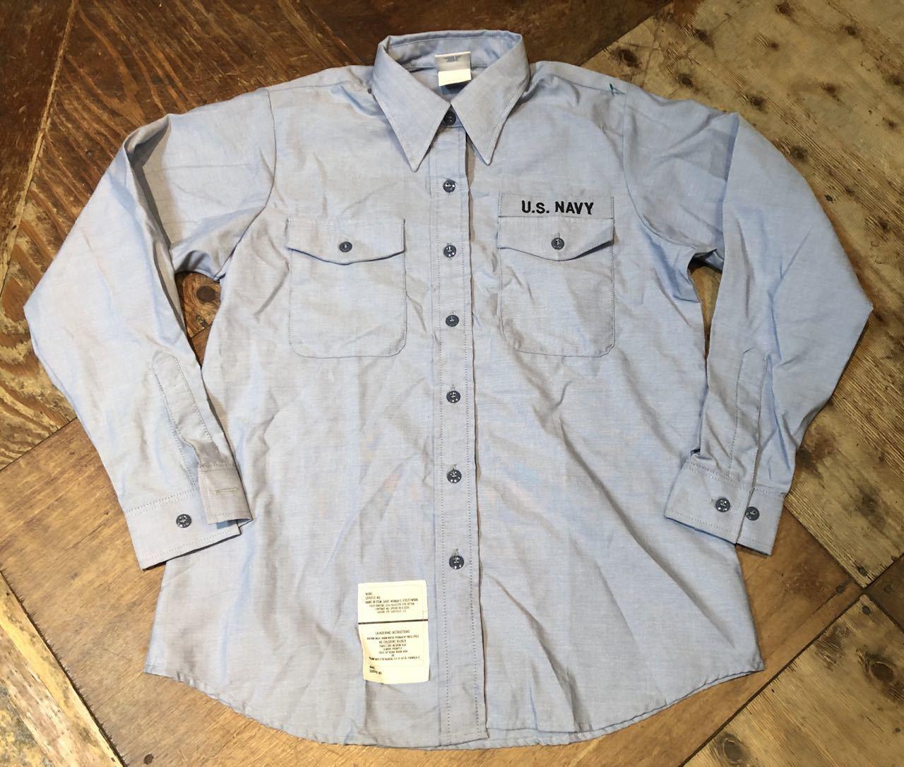 1月19日(日)入荷!90s U.S NAVY シャンブレーシャツ!_c0144020_13032647.jpg