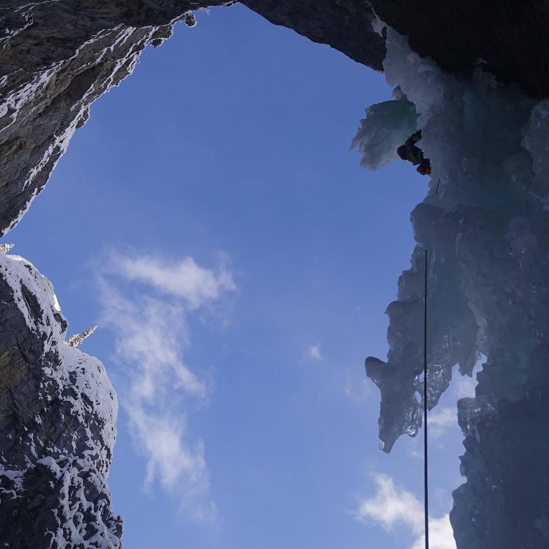 アイスクライミングの秘境、ゴースト。ルート名: フィアフルシンメトリー / 6級_d0112928_06110959.jpg