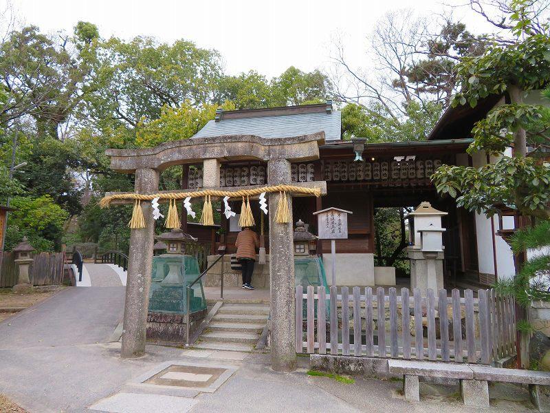 京都御苑「九条邸跡と厳島神社」20200118_e0237645_16340276.jpg