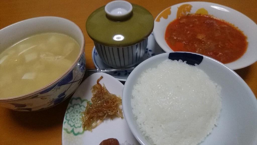 朝食。チキンのトマト煮込み_b0106766_07260506.jpg