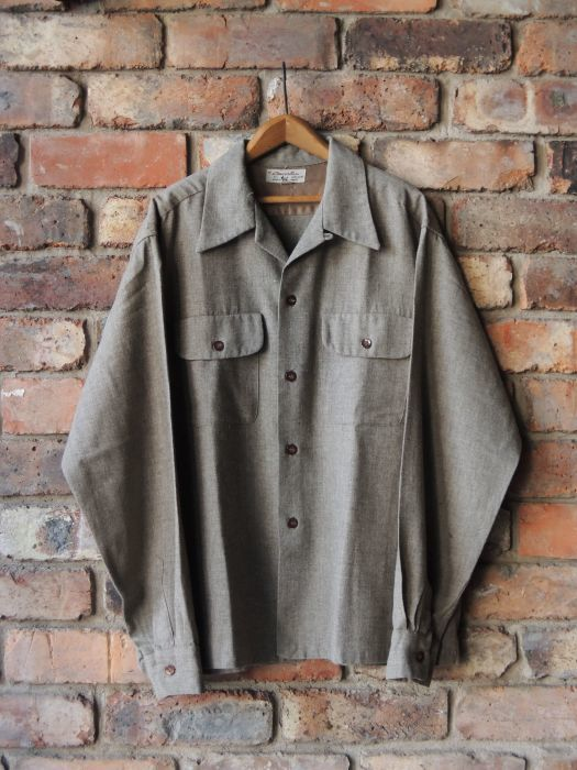 50S CONCORDIA WOOL O/C SOLID SHIRT--RECOMMEND--_d0334976_14053083.jpg