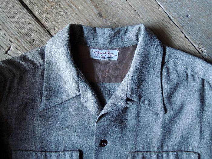 50S CONCORDIA WOOL O/C SOLID SHIRT--RECOMMEND--_d0334976_14080964.jpg