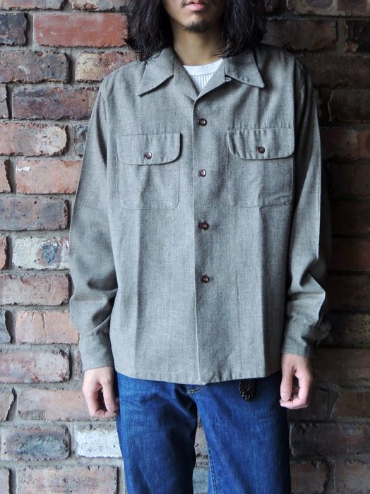 50S CONCORDIA WOOL O/C SOLID SHIRT--RECOMMEND--_d0334976_14215123.jpg