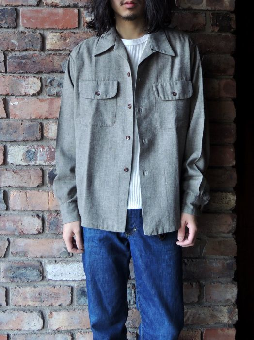 50S CONCORDIA WOOL O/C SOLID SHIRT--RECOMMEND--_d0334976_14215205.jpg