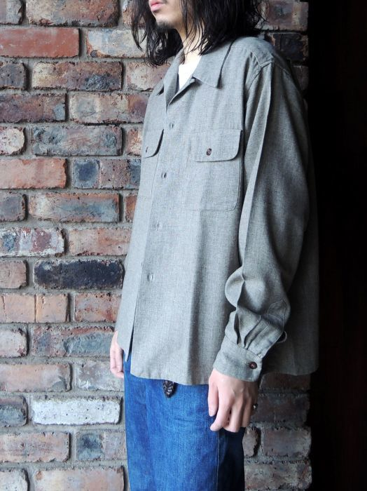 50S CONCORDIA WOOL O/C SOLID SHIRT--RECOMMEND--_d0334976_14215210.jpg