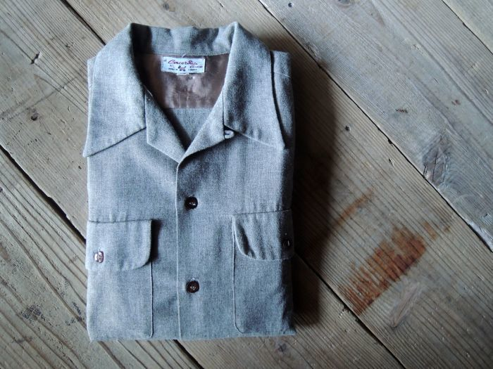 50S CONCORDIA WOOL O/C SOLID SHIRT--RECOMMEND--_d0334976_14485245.jpg