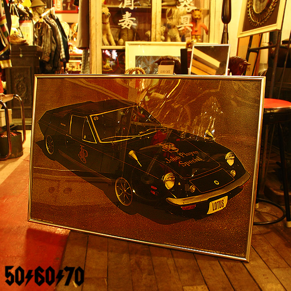 1970s Vintage ロータスヨーロッパの額装大型ポスター LOTUS EUROPA JPS_e0243096_07394289.jpg