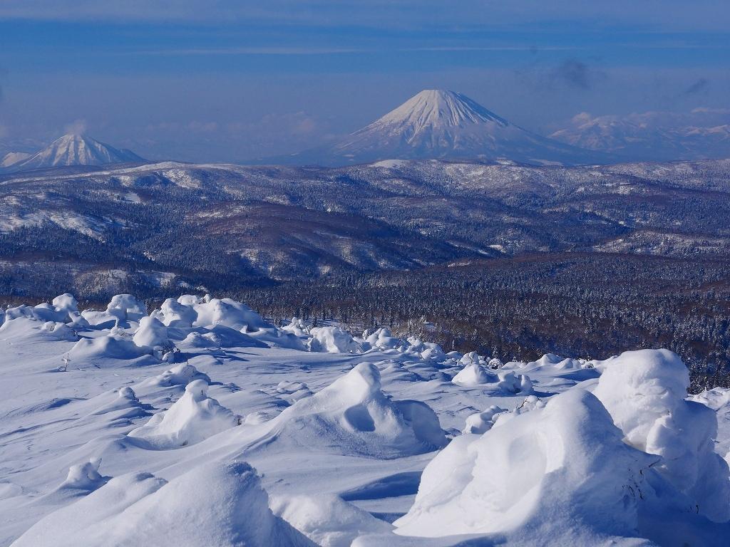 雪から晴天に変わった漁岳、2020.1.19ー速報版ー_f0138096_20484340.jpg