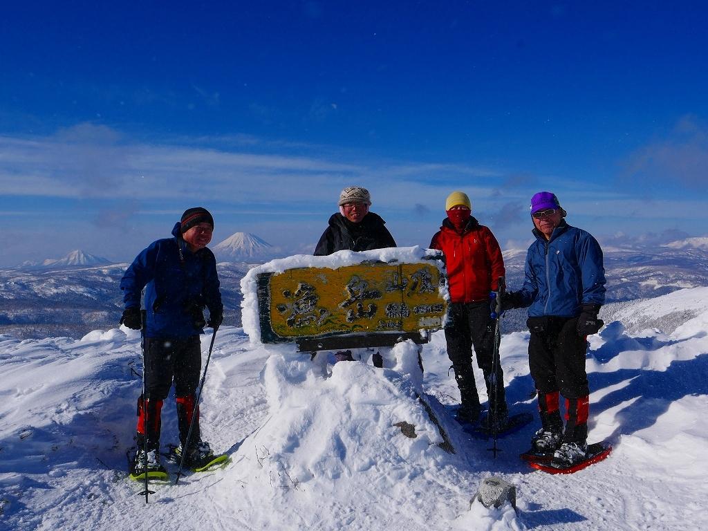 雪から晴天に変わった漁岳、2020.1.19ー速報版ー_f0138096_20485049.jpg