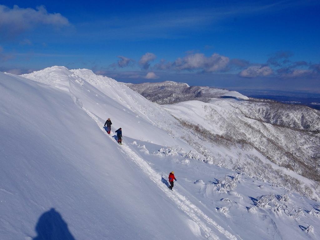 雪から晴天に変わった漁岳、2020.1.19ー速報版ー_f0138096_20485459.jpg