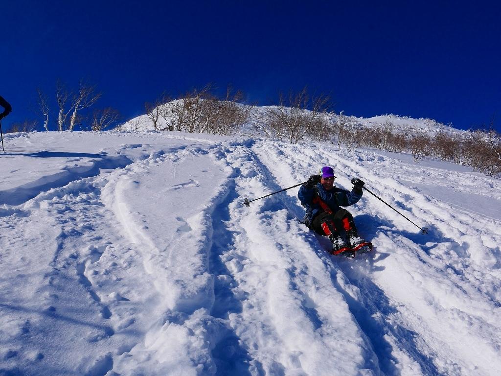 雪から晴天に変わった漁岳、2020.1.19ー速報版ー_f0138096_20490195.jpg